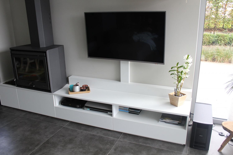 Tv Meubel Op Maat.Tv Meubel Op Maat Van Bestaande Kachel Realisaties Sw Interieur